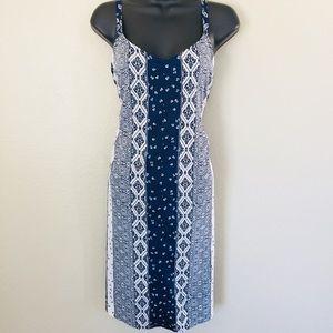 Motherhood Blue & White Floral Maternity Dress L